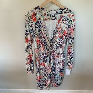 Jessica Simpson LongSleeve Floral Wrap Fro…